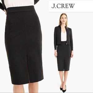 NWT J.Crew Skinny pencil skirt  Black SZ-10